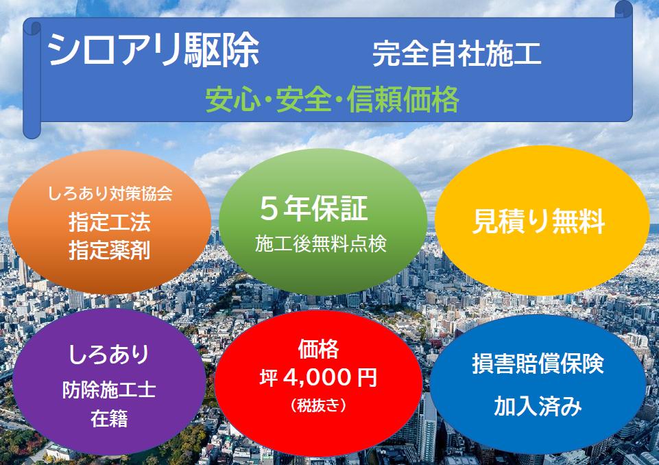 千葉・東京・茨城のシロアリ駆除なら害虫駆除のクジョリアへお任せください。