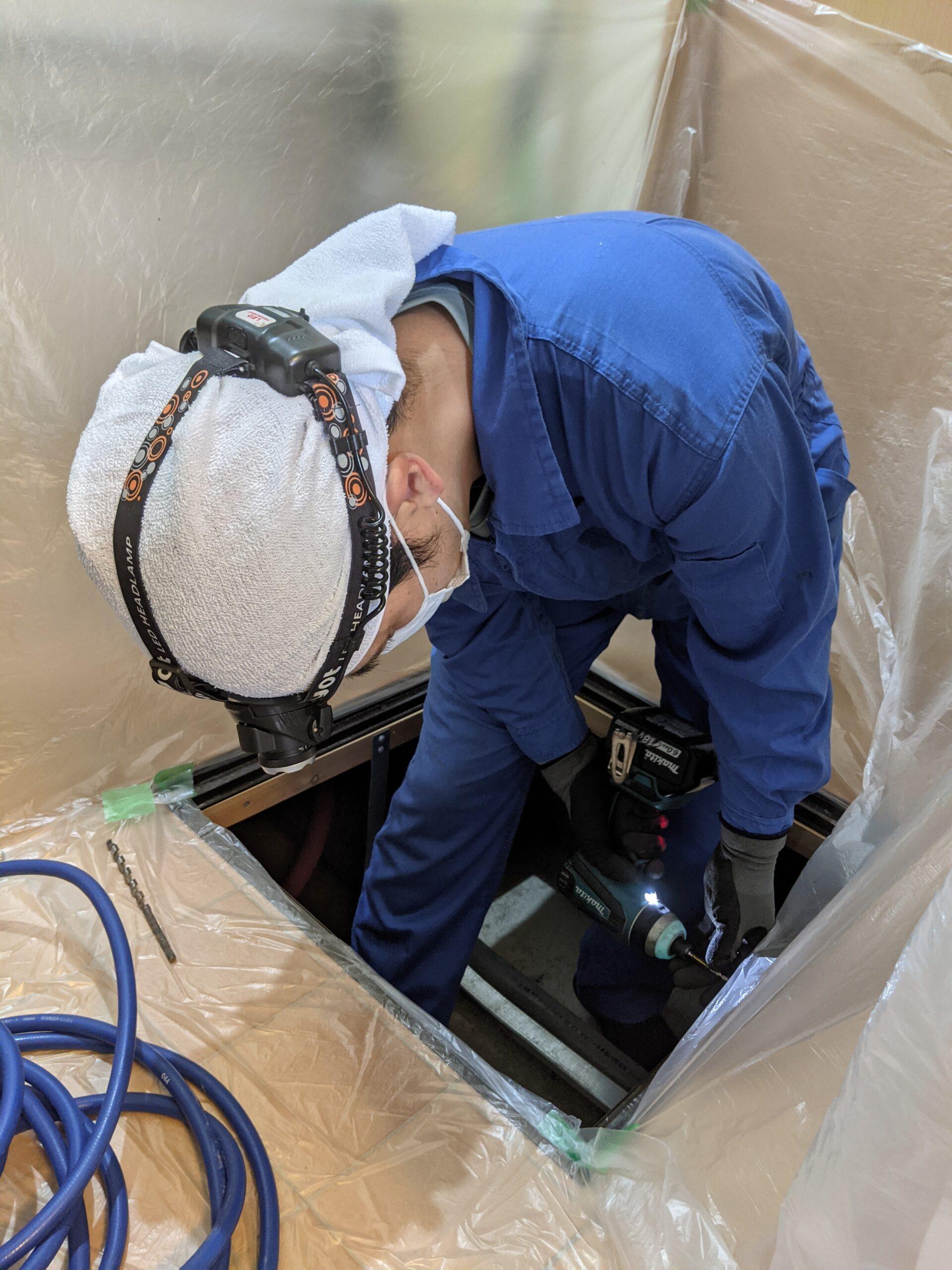 防除施工士が安心・安全な害虫駆除作業を行います