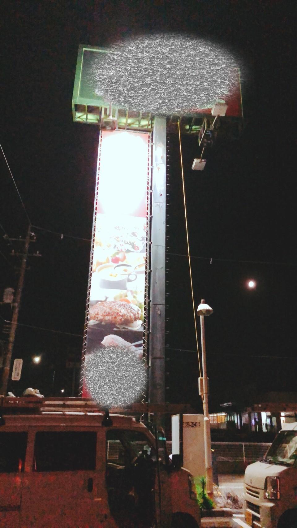 千葉県千葉市のM店のカラス駆除:施工前