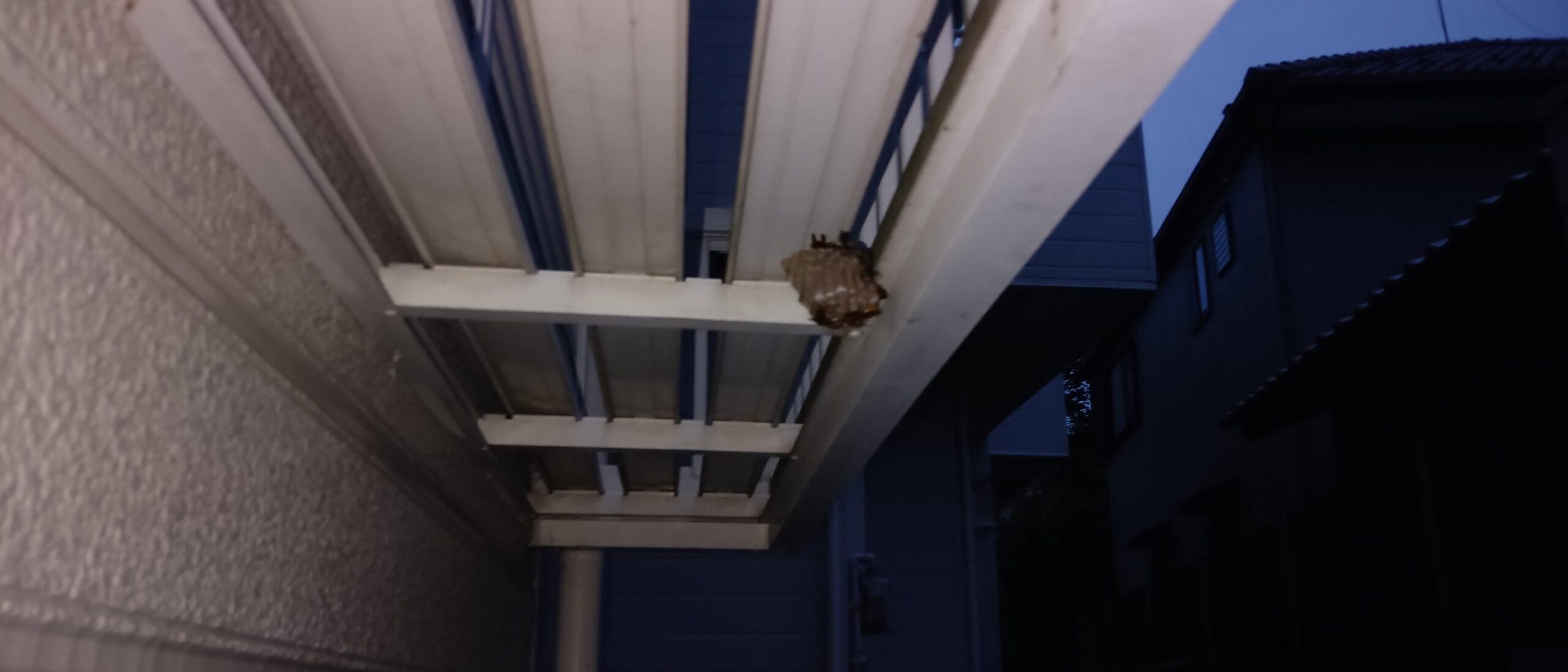 千葉県印西市のA様のハチ駆除:施工前