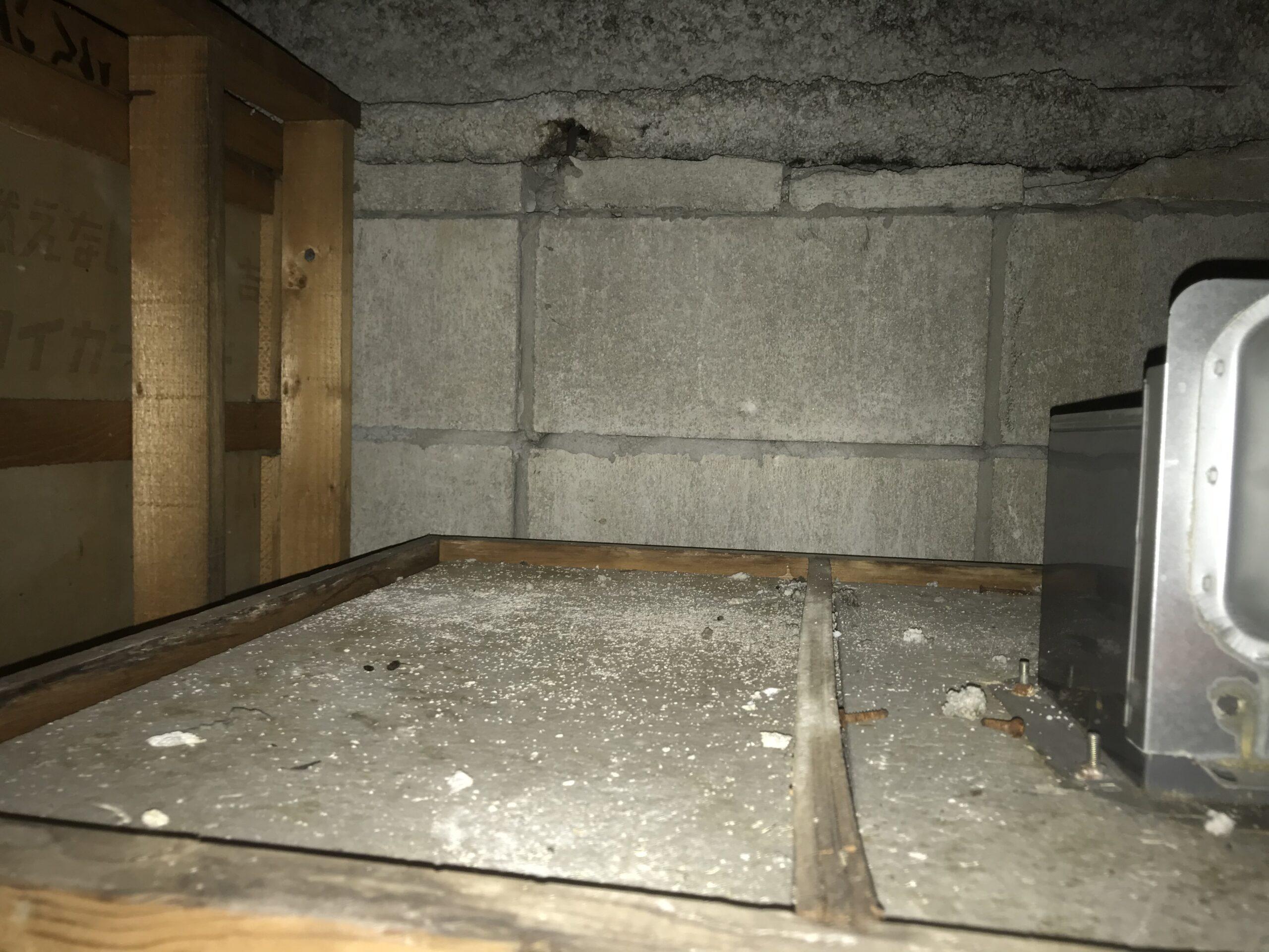 千葉県船橋市のK様のネズミ駆除:施工前