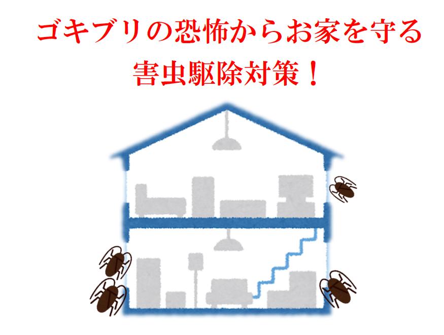 ゴキブリの恐怖からお家を守る害虫駆除対策!害虫駆除なたクジョリアにおまかせください。