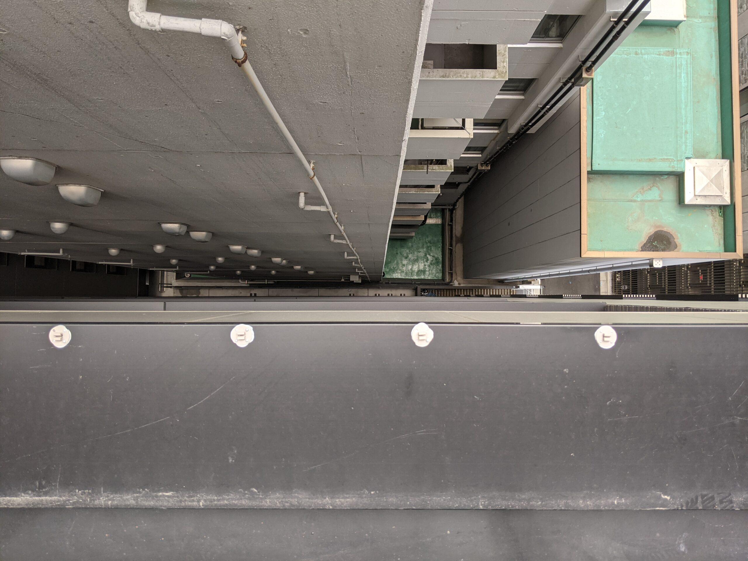 千葉県千葉市の宿泊ホテルのハト駆除:施工前