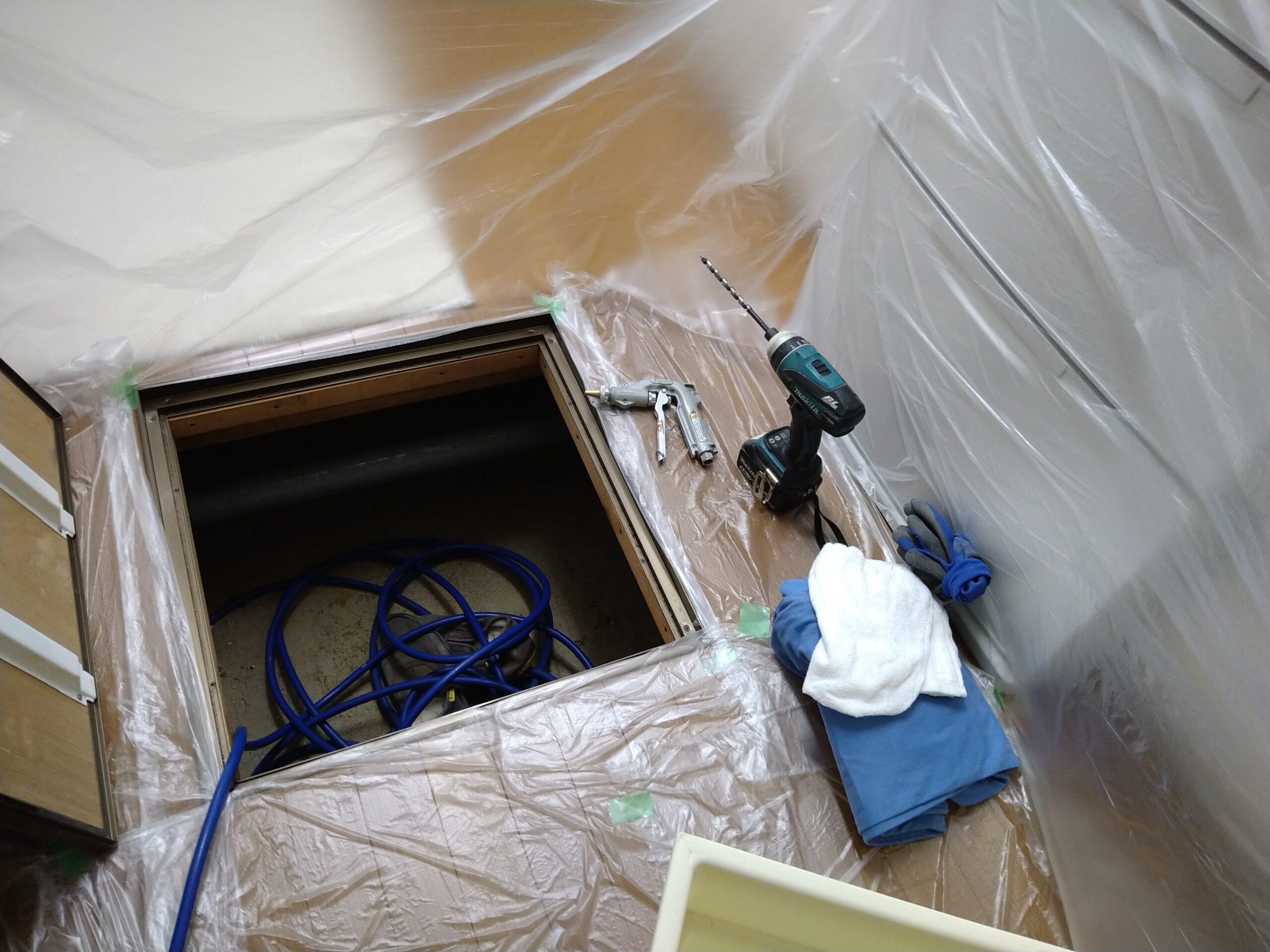 千葉県浦安市のA様のシロアリ防除:施工前